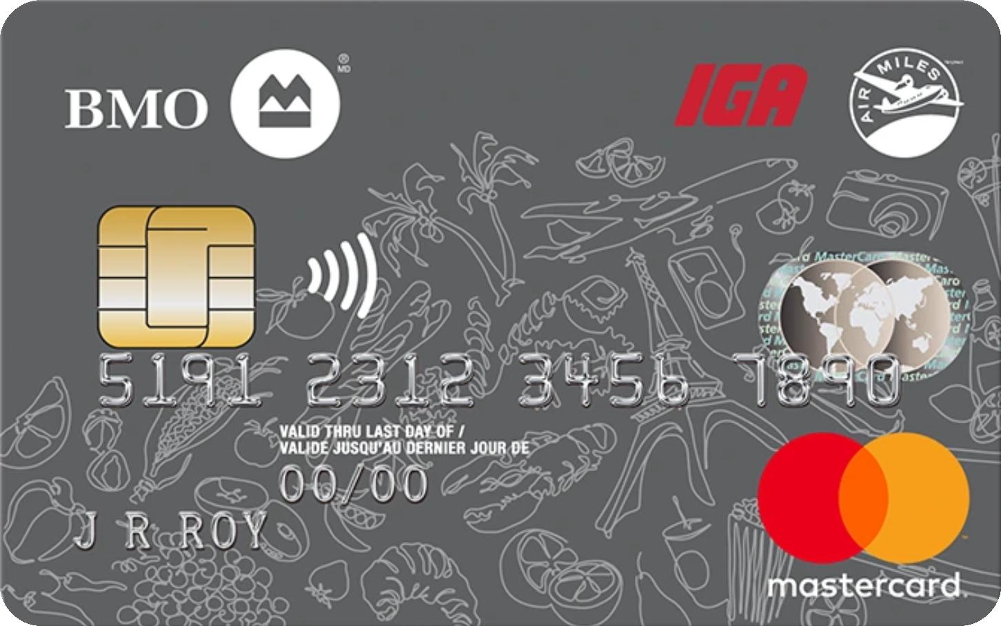 BMO® IGA AIR MILES® MasterCard® logo