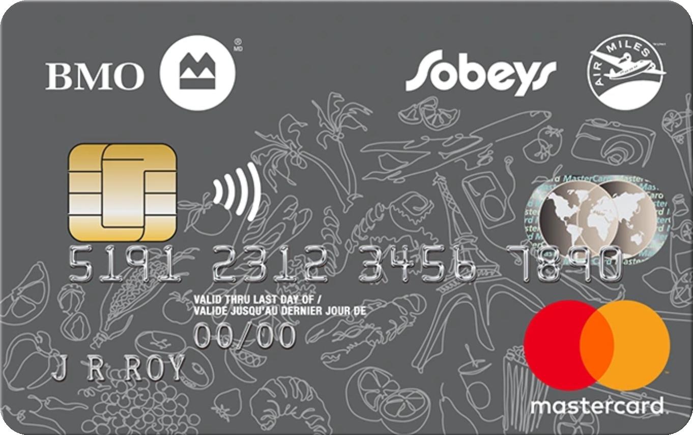 BMO® Sobeys AIR MILES® MasterCard® logo