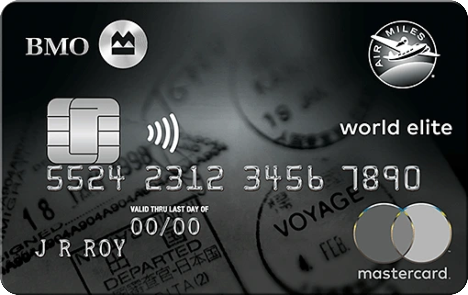 BMO® AIR MILES® World Elite® MasterCard® logo