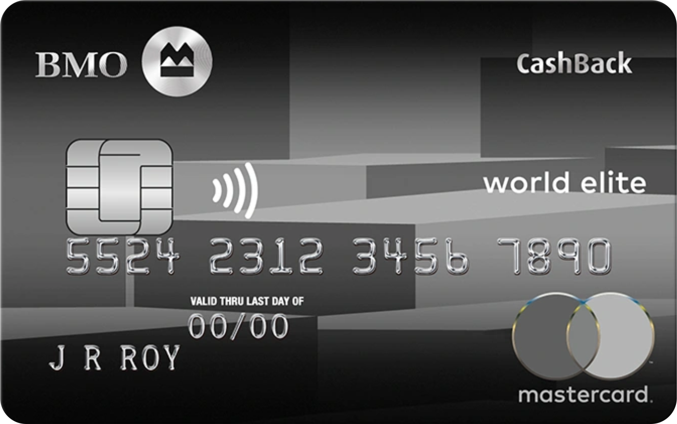 BMO® CashBack® World Elite® MasterCard® logo